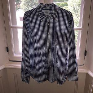 Brooks brother plaid button down dress shirt.